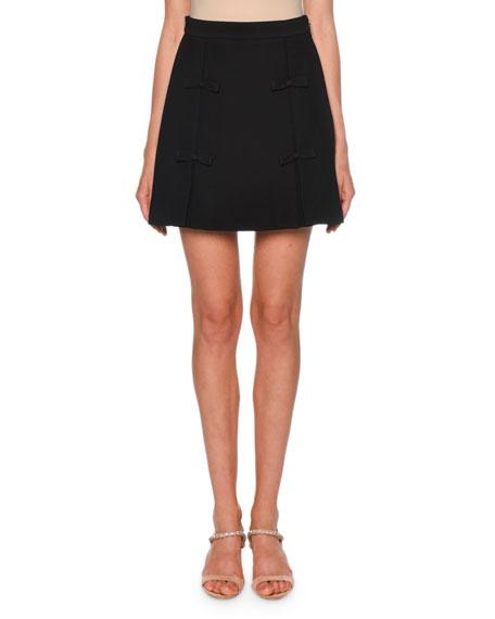 Miu Miu Bow-Trim Mini Skirt