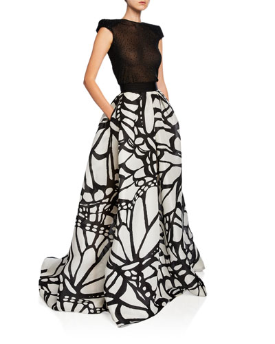 Butterfly Wing Two-Piece Gown