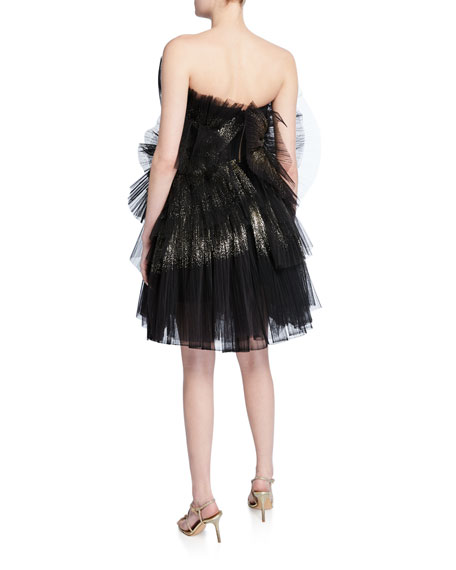 Shimmered Micro Tulle Cocktail Dress