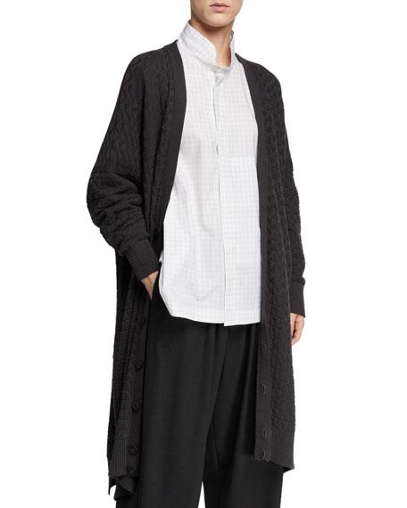 Eskandar V-Neck Button-Front Cardigan