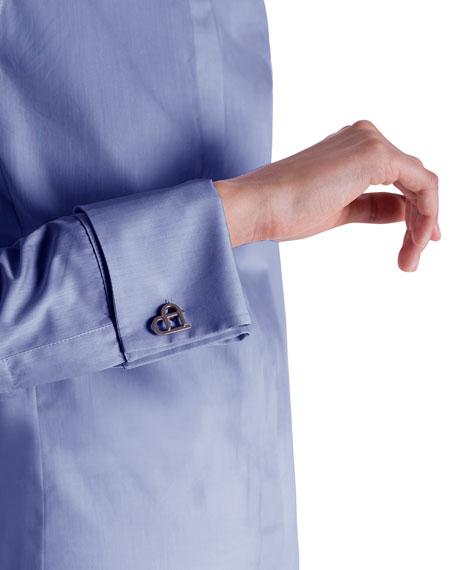 Cotton Button-Front Poplin Blouse