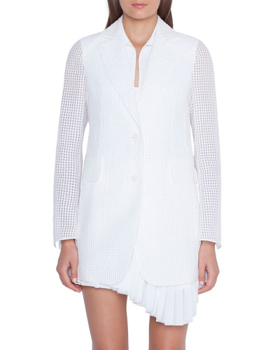 Alina Square Ajoure-Sleeve Jacket