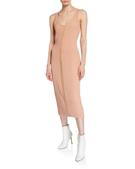 Hook-Front Sleeveless Tank Dress