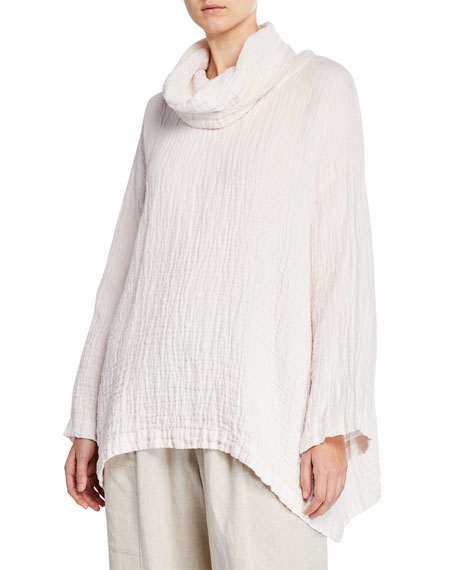 Image 1 of 1: Double-Sided Linen Monk's Top