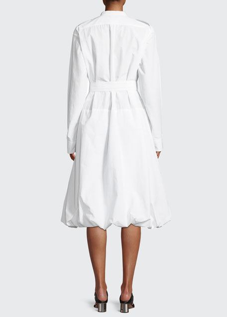 Long-Sleeve Pocket Shirt Dress