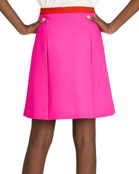 Shocking Pink Wool Mini Skirt