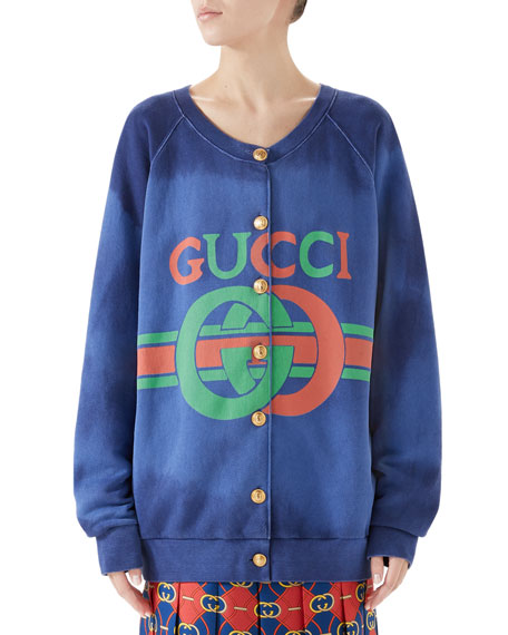 Heavy Felted Cotton Jersey Sweatshirt