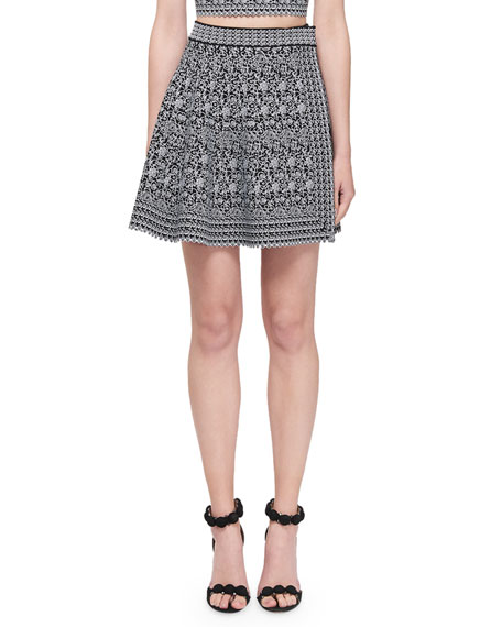 Image 1 of 1: Labyrinth Intarsia Mini Skirt