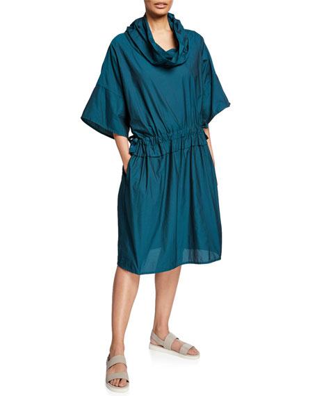 Farfalle Ruched Dress w/ Pockets