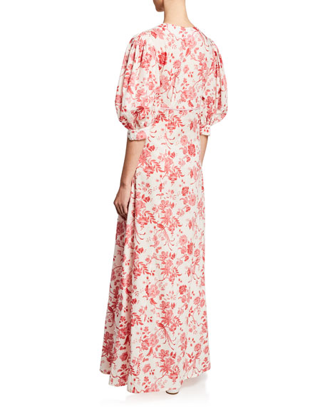 Chloe English Cotton Floral Maxi Dress