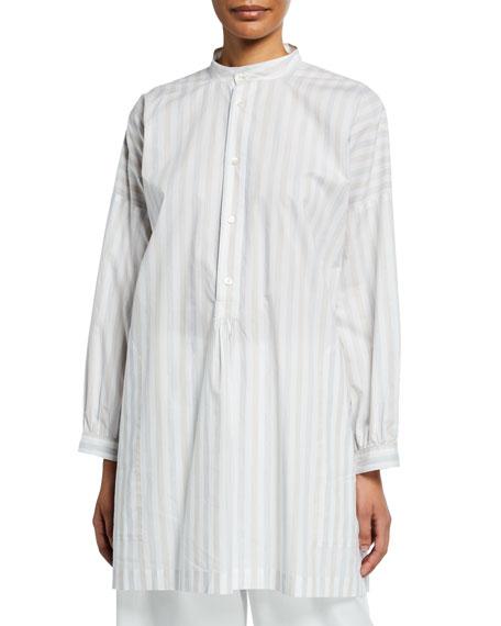 Faded Stripe Smock Shirt