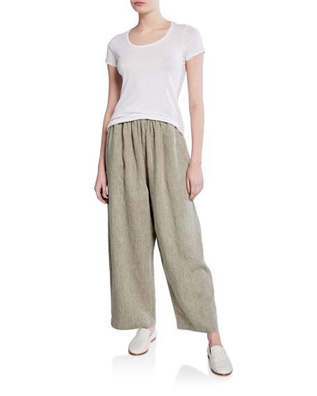 Linen Wide-Leg Japanese Trouser