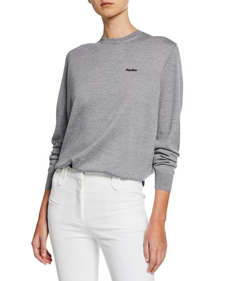 Miu Miu Long-Sleeve Bow-Back Wool Sweater