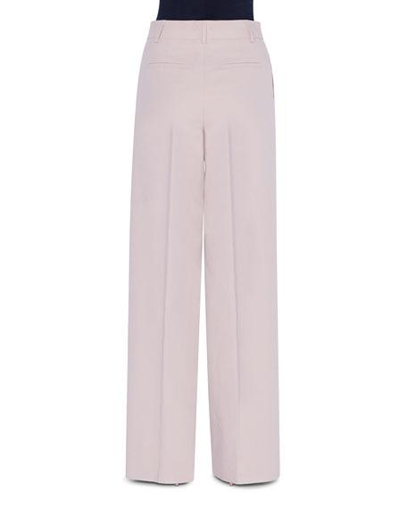 Wide-Leg Cotton Pants