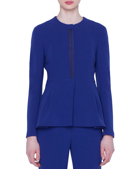 Akris Dai Wool Peplum Jacket