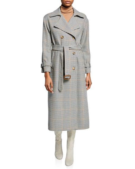 Linford Fancy 70s Plaid Wrap Coat