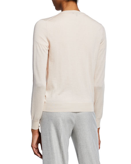 Cashmere-Silk Button-Front Cardigan