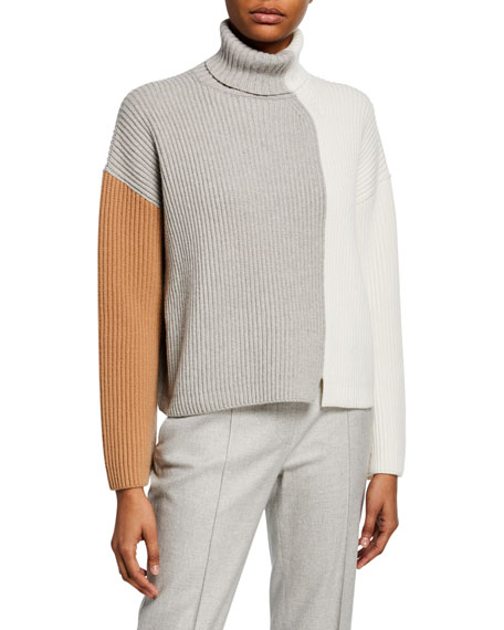 Heavy Ribbed Colorblock Sweater