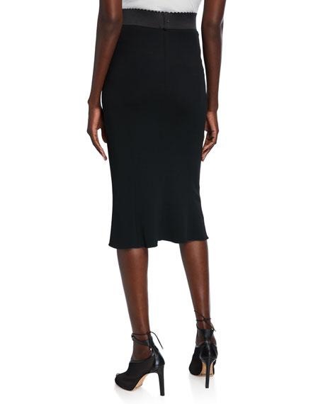 Stretch Cady Tubino Skirt