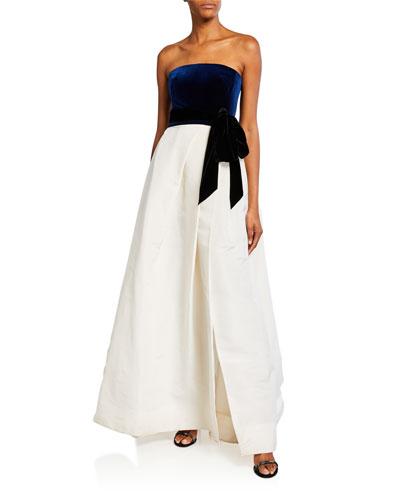 Velvet-Top Ball Gown