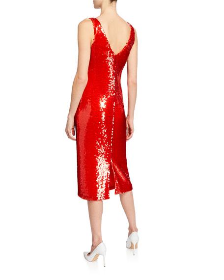 Sequined Scoop-Neck Tank Dress