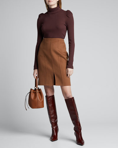 Vicuna Cashmere Pencil Skirt
