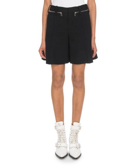 Zip-Waist Shorts