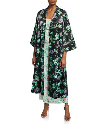Sofia Floral Satin Slip Dress
