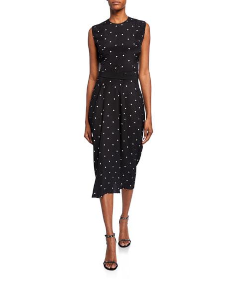 Polka Dot Silk Midi Dress