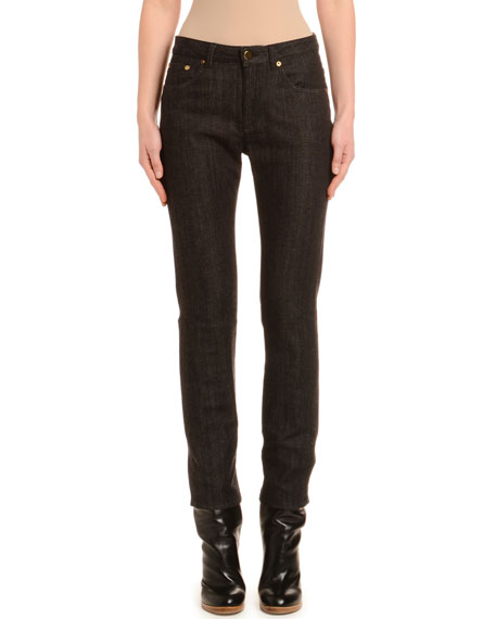 Tapered Cashmere-Line Skinny Jeans