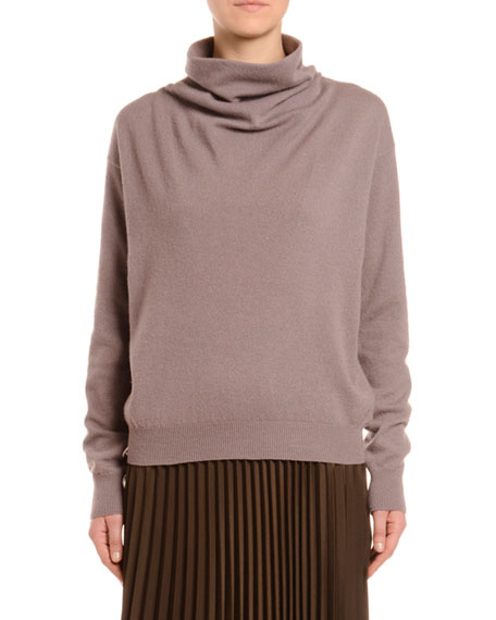 Cashmere Cowl Neck Sweater, Pink