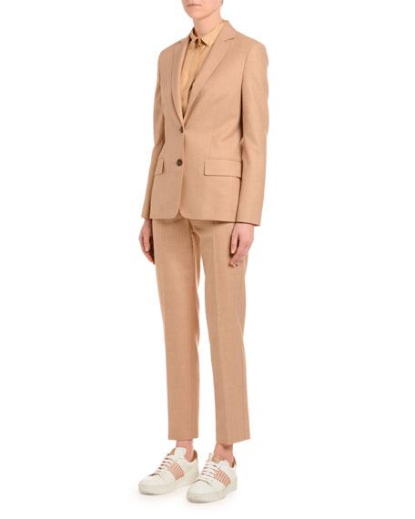 Wool Flannel Single-Breasted Jacket