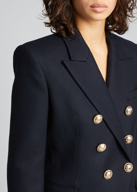 Wool Double-Breasted Classic Blazer