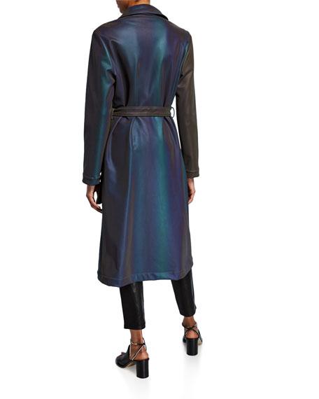 Iridescent Satin Trench Coat