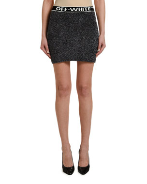 Off-White Sparkley Mini Skirt
