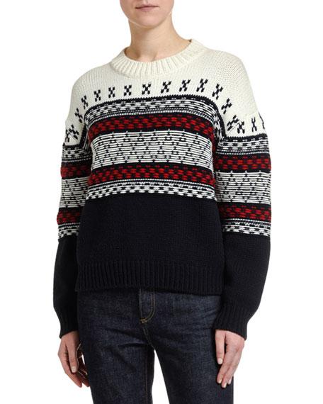 Floating Yarn Jacquard Sweater