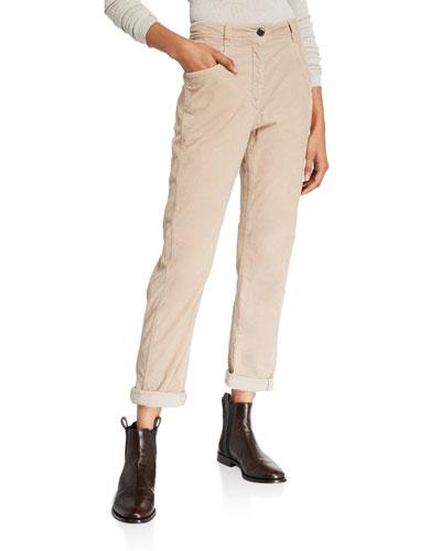 Micro Wale Corduroy Cotton-Cashmere Pants