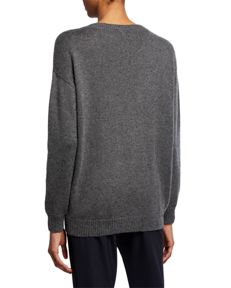 Cashmere Sequined V-Neck Sweater