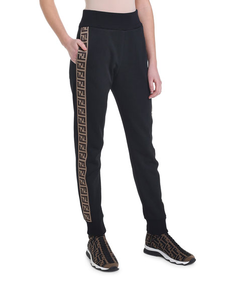 Logo-Striped Jersey Track Pants