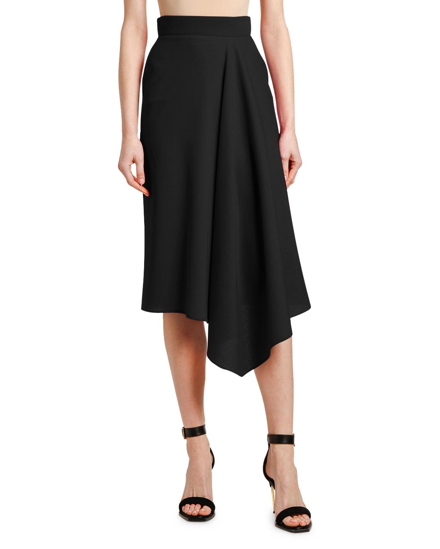 wide varieties the best attitude official Side-Drape Midi Skirt