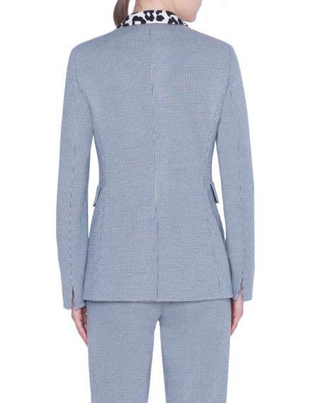 Leopard-Collar Blazer Jacket