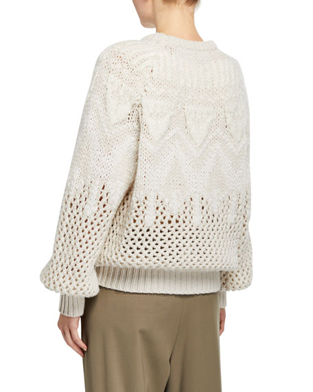 Cashmere Hand Opera-Knit Sweater