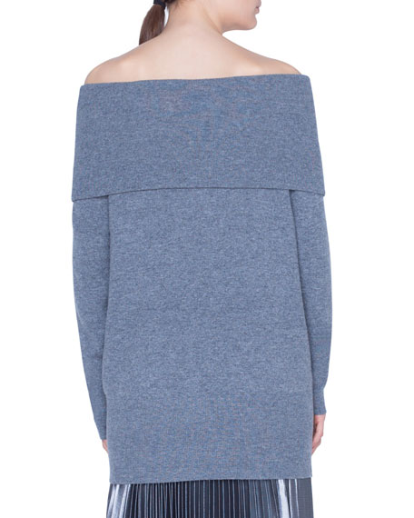 Carmen Off-the-Shoulder Wool-Cashmere Sweater