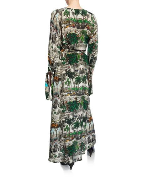 Jamal Patchwork Striped Flounce Dress