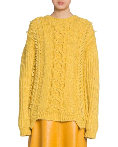 Alpaca Cable-Knit Sweater