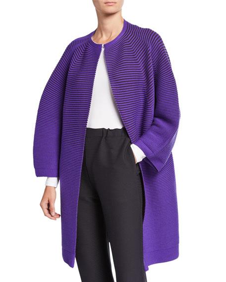 Circle Knit Wool Cardigan