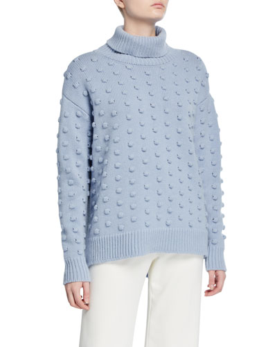 Dotted Wool-Cashmere Turtleneck