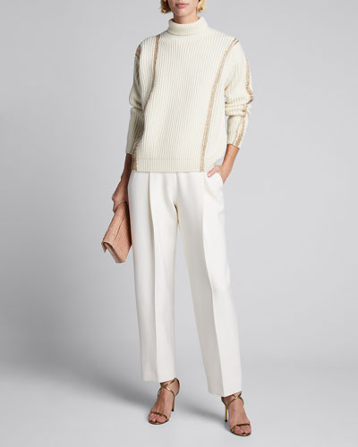 Merino-Cashmere Striped Sweater