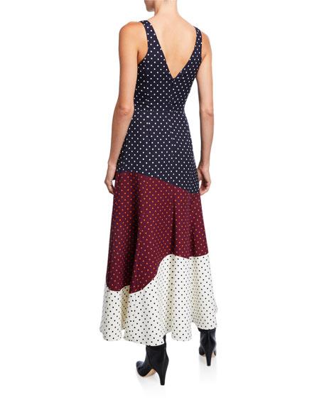 Elliot Dotted Patchwork Dress