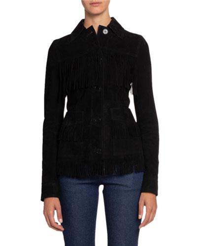 Suede Fringe Leather Jacket